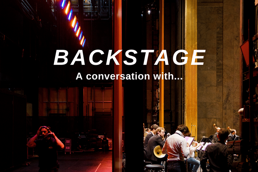 "The podcast ""Backstage - a Conversation with..."" is produced by the CNM."