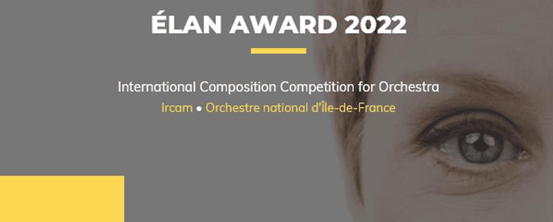 Prix ELAN 2022, concours international de composition pour orchestre